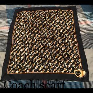 New Coach silk scarf